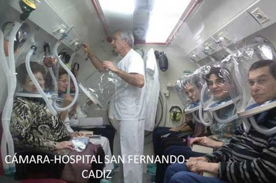 Cámara hiperbárica multiplaza